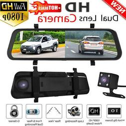 "10"" Backup Camera Mirror Car Rear View Reverse NightVision P"