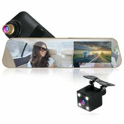 Pyle 1080p Touchscreen Vehicle Dual DVR Dash Cam &Monitor Sy