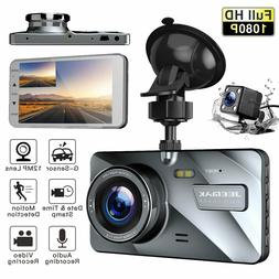 "JEEMAK 4"" Dash Cam Dual Front+Rear View 1080P Auto Car DVR V"