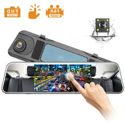 "JEEMAK 4"" IPS Dash Cam Front+Rear for Cars FHD 1080P Backup"