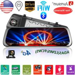 "4G 7""Dual Lens Bluetooth WiFi Android 5.0 Vehicle Camera DVR"