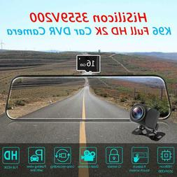 """9.66"""" Android 8.1 4G Quad Core GPS Car Rearview Mirror DVR N"""