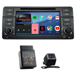 "CAM+OBD2+ 7"" Android 9.0 in Dash Car Stereo GPS Radio DVD CD"