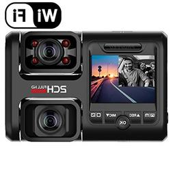 Pruveeo D30H Dash Cam with Infrared Night Vision and WiFi, D