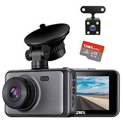 Dash Camera for Cars, 1080P Dash Cam Front and Rear and SD C