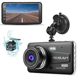 Dash Camera for Cars,hyleton 1080P HD Dual Dash Cam Front an