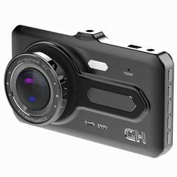 Dash Camera for Cars, Front and Rear 1080P Hd 4 Inch Ips Scr