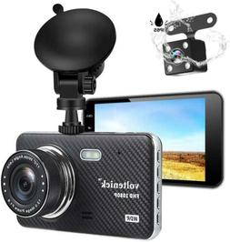 Dual Dash Cam Dashboard Camera 1080P Full HD Front and Rear