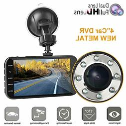 Dual Dash car cam FHD 1080P Camera Front and Rear with Night