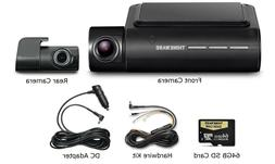 Thinkware F800 Pro Dash Cam 64GB Kit w/Rear Cam Hardwire WiF