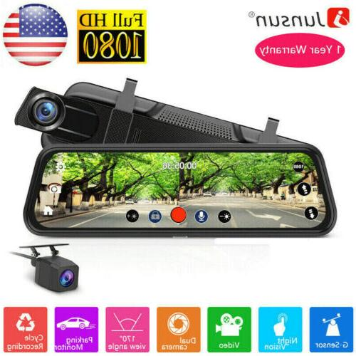 10 fhd 1080p car dvr rearview mirror