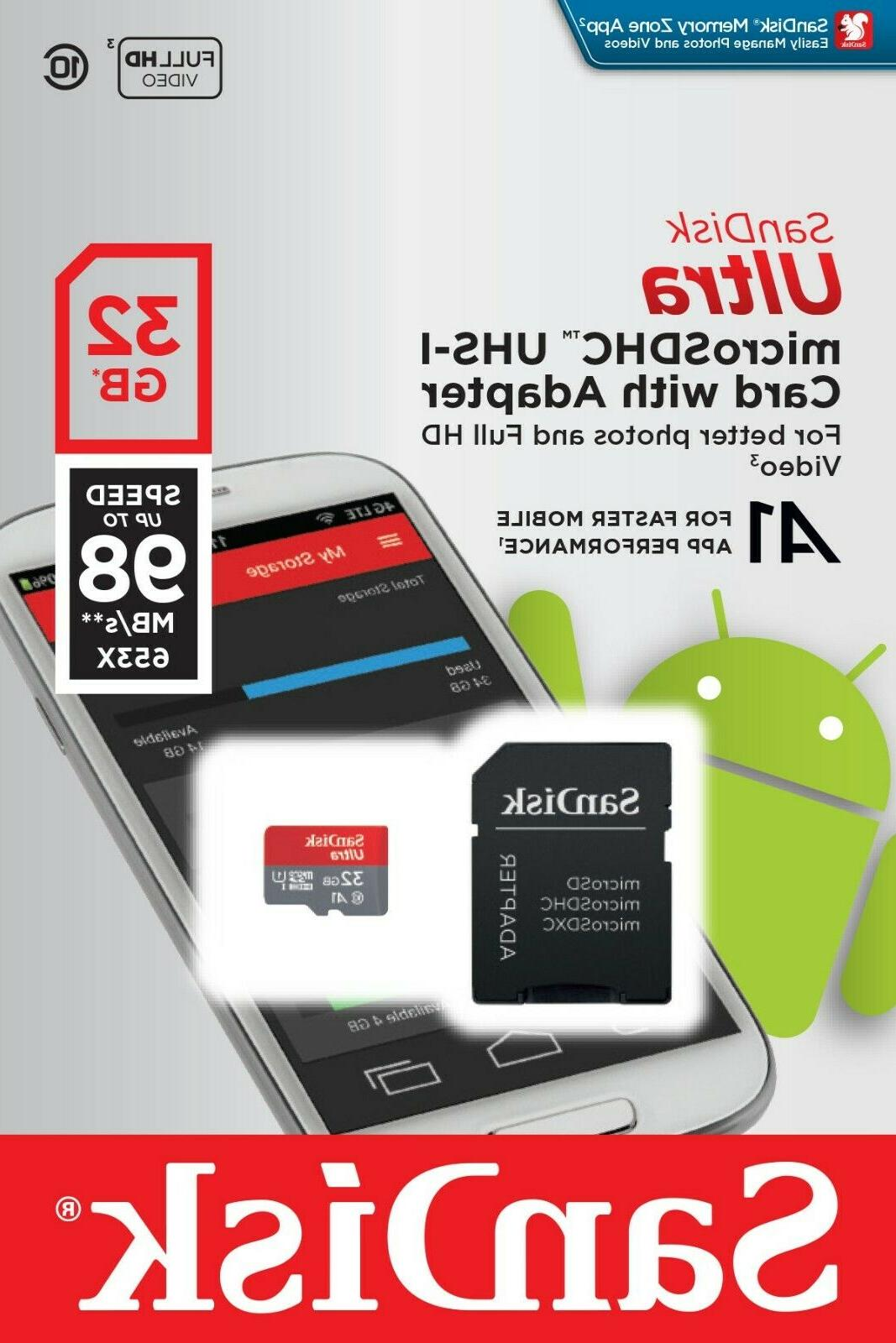 32gb micro sd 98mb s a1 memory