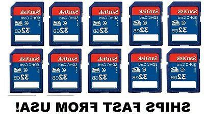32gb sd cards 10 pack for digital