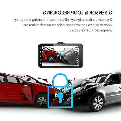 """4"""" Dual Touch Screen DVR Dash Recorder and Camera"""