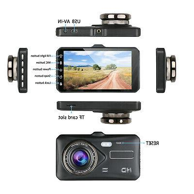 Touch Screen Dash Cam Recorder and Rear