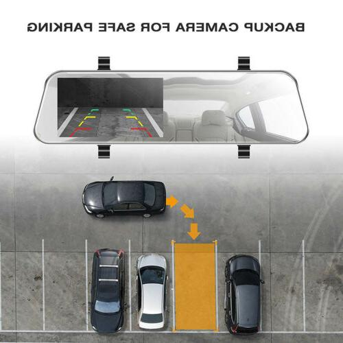 """Dash Cam with Camera TOGUARD 5"""" 1080P Touchscreen Front and Rear"""