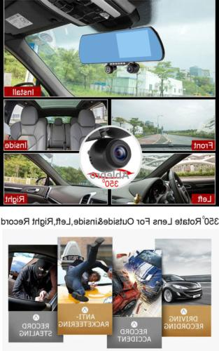 """Dash Car 5.0"""" View Three Recorder With"""