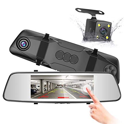 rearview mirror touch dash cam