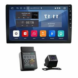 "OBD2+CAM+ 2DIN In Dash 10.1""Android 9.0 Car Stereo Radio 4G"