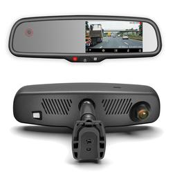 Rear View Mirror with DUAL CAMERA HD DVR Dash Cam with Micro