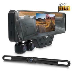 Pyle Newest Technology HD 3 Camera Dash Cam Rearview Mirror