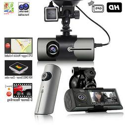 "Indigi Wide Angle Dash Cam Recorder + 2.7"" LCD HD Dual Lens"